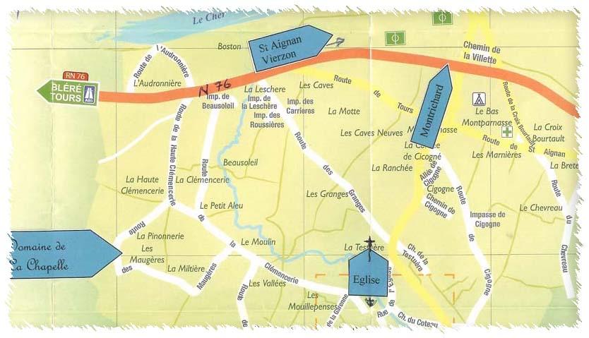 map of faverolles sur cher